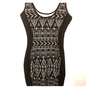 Sparkle and fade Aztec print dress